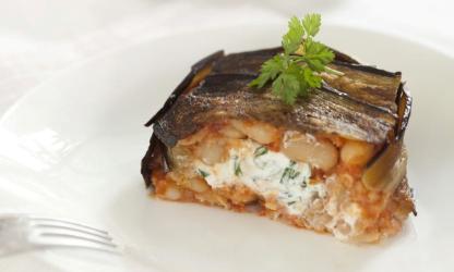 Eggplant timbale stuffed...