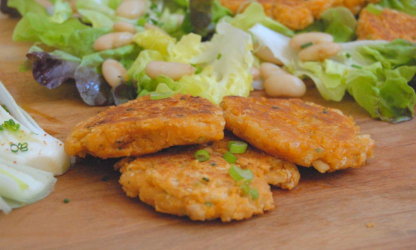 Vegetarian patties with...
