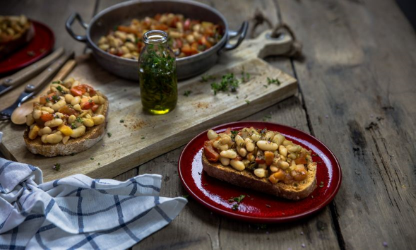 Tartines of Tarbes Beans