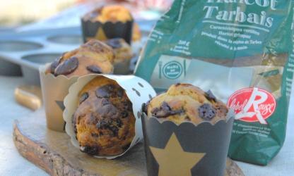 Tarbais beans muffins,...